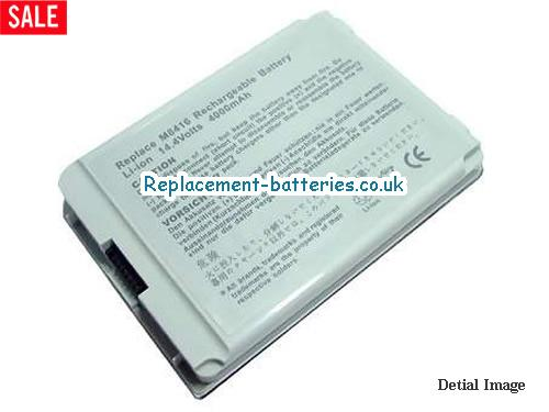 14.4V APPLE IBOOK G4 14 M9165J/A Battery 4400mAh