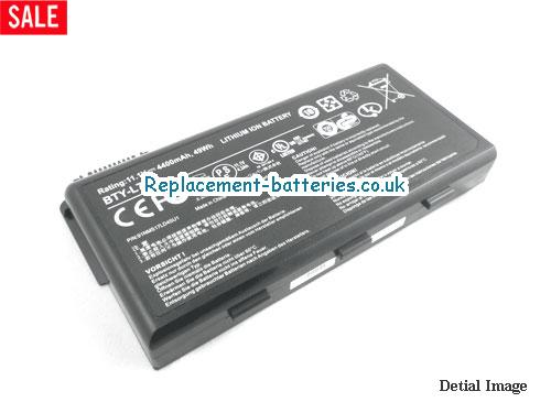 UK 4400mAh, 49Wh  Long life laptop battery for Celxpert BTY-L74, 91NMS17LD4SU1,
