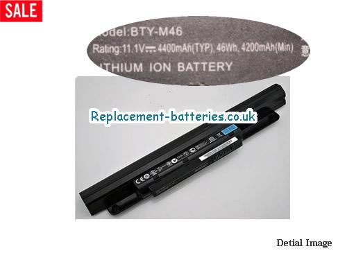 MSI BTY-46 Battery 4200mah For GE40 X460 Series Laptop in United Kingdom and Ireland