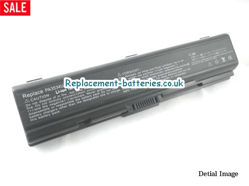 PA3727U-1BAS Battery, 10.8V TOSHIBA PA3727U-1BAS Battery 7800mAh