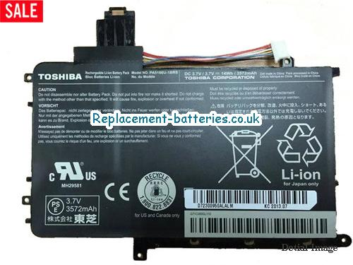 Genuine Toshiba PA5166U-1BRS Battery PA5166U1BRS 14Wh in United Kingdom and Ireland