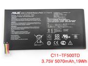 Genuine ASUS TRANSFORMER PAD TF500 Battery Li-ion 3.75V 5070mAh, 19Wh