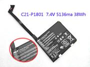 Genuine ASUS C21-P1801 Battery Li-ion 7.4V 5136mAh, 38Wh