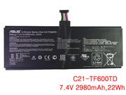 Genuine ASUS TF600TD Battery Li-Polymer 7.4V 2980mAh, 22Wh