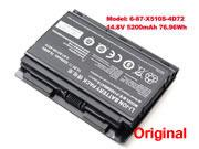 Genuine CLEVO 6-87-X510S-4D72 Battery Li-ion 14.8V 5200mAh, 76.96Wh