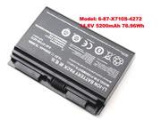 Genuine CLEVO 6-87-X710S-4J7 Battery Li-ion 14.8V 5200mAh, 76.96Wh