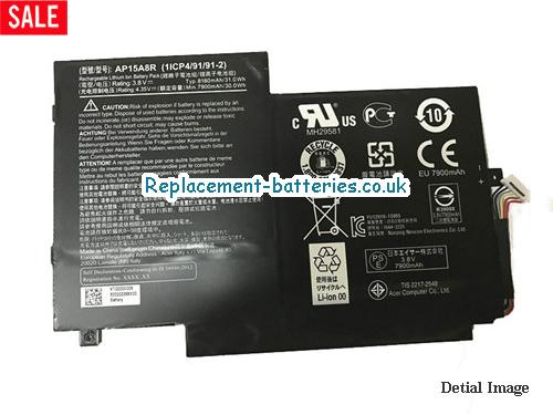 image 1 for  Genuine ACER AP15A8R Battery 31.0Wh 8130mah In United Kingdom And Ireland laptop battery