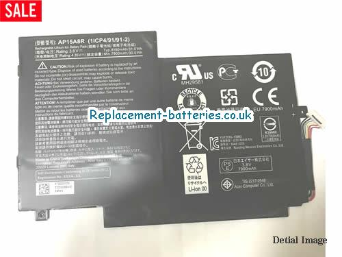 image 3 for  Genuine ACER AP15A8R Battery 31.0Wh 8130mah In United Kingdom And Ireland laptop battery