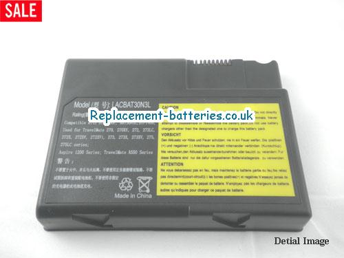 image 5 for  TRAVELMATE 550 laptop battery