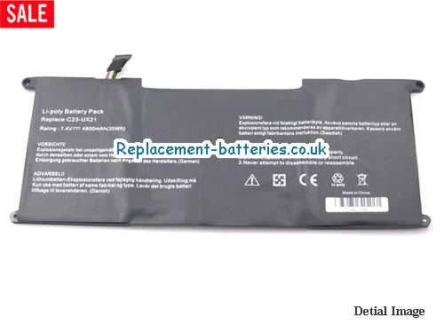 image 2 for  Replacement C23-UX21 Battery For ASUS Zenbook UX21 UX21E Series 35Wh In United Kingdom And Ireland laptop battery