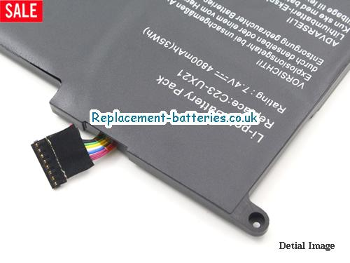 image 3 for  Replacement C23-UX21 Battery For ASUS Zenbook UX21 UX21E Series 35Wh In United Kingdom And Ireland laptop battery