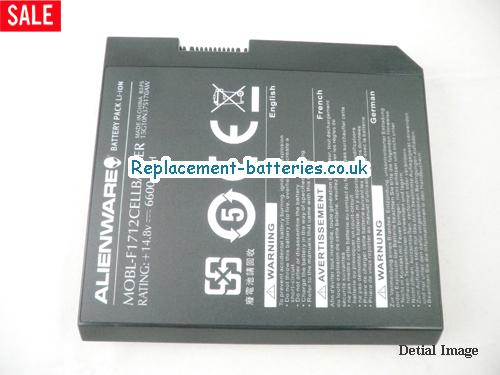 image 3 for  Genuine Alienware MOBL-F1712CELLBATTER Battery 6600mah 12cells In United Kingdom And Ireland laptop battery