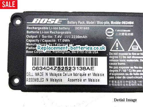 image 2 for  BOSE 063404 Battery For Mini Bluetooth Speaker In United Kingdom And Ireland laptop battery
