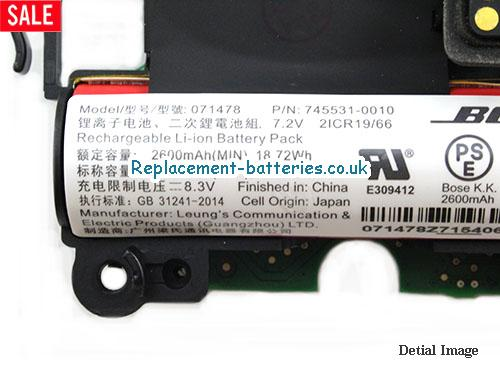 image 2 for  Genuine Bose 071478 Battery 745531-0010 For Soundlink Revolve Li-ion In United Kingdom And Ireland laptop battery
