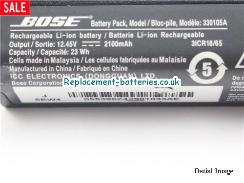 image 2 for  Genuine BOSE 330105A 330105 Battery 23wh 12.45v 2100mah In United Kingdom And Ireland laptop battery