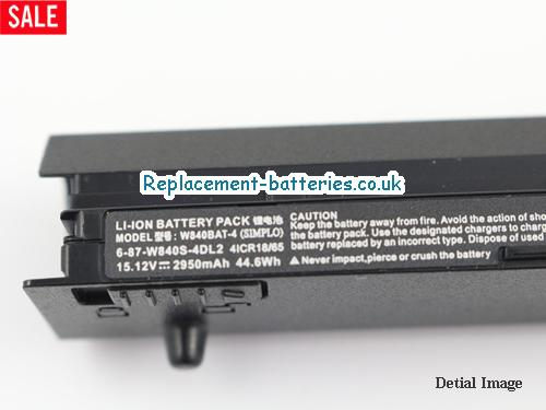 image 2 for  W840SN laptop battery