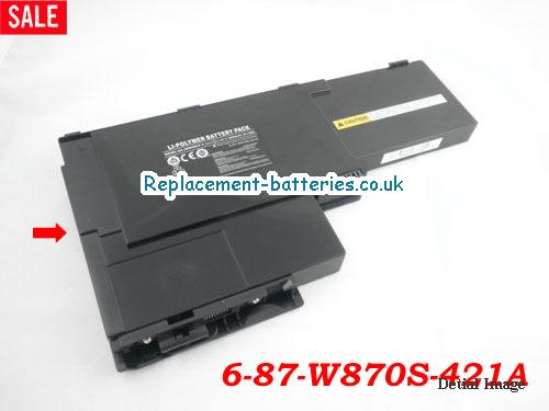 image 1 for  6-87-W870S-421A laptop battery