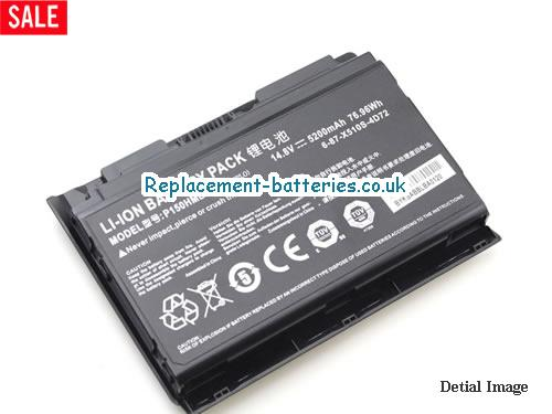 image 3 for  Genuine Clevo 6-87-X510S-4D72 P150HMBAT-8 P150 P150EM PC Battery In United Kingdom And Ireland laptop battery