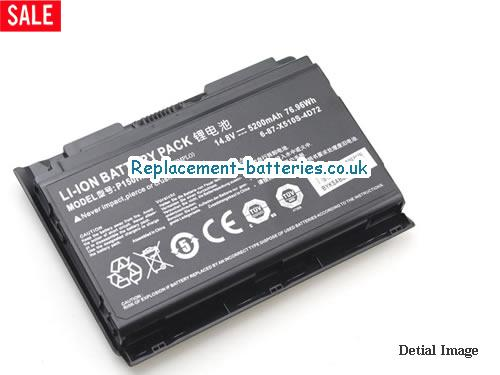 image 4 for  Genuine Clevo 6-87-X510S-4D72 P150HMBAT-8 P150 P150EM PC Battery In United Kingdom And Ireland laptop battery