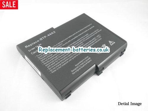 image 1 for  UK 6600mAh Long Life Laptop Battery For Acer BTP-44A3, Aspire 1400 Series(not All), Aspire 1200 Series(MS2111),  laptop battery