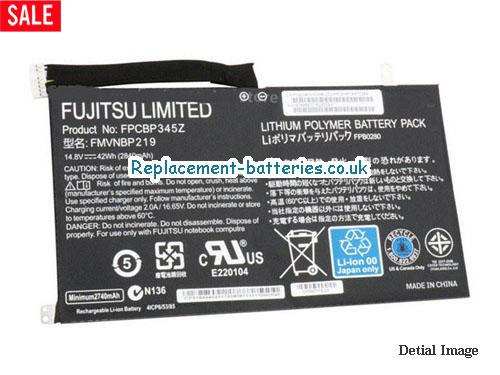 image 5 for  Genuine Fujitsu FMVNBP219 FPB0280 FPCBP345Z Battery 42wh In United Kingdom And Ireland laptop battery