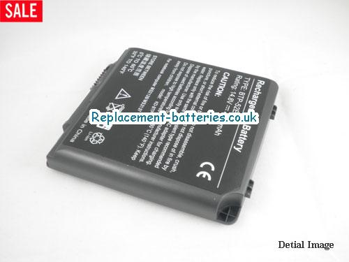 image 2 for  UK 4400mAh Long Life Laptop Battery For Aopen BTP-90BM, BTP-89BM, BTP-52EW, 90.NBI61.011,  laptop battery