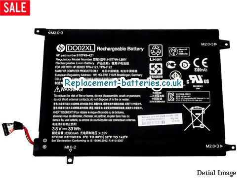 image 1 for  HP DO02XL HSTNN-LB6Y Battery For PAVILION X2 SERIES In United Kingdom And Ireland laptop battery