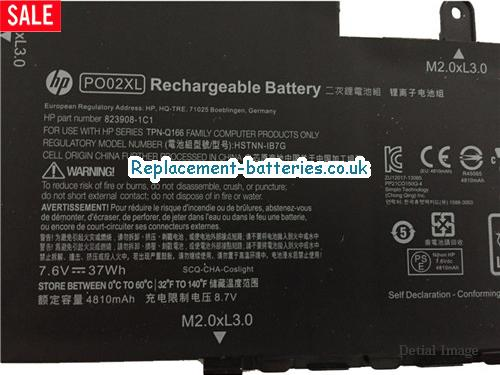 image 2 for  HP PO02XL Laptop Battery 824560-005 HSTNN-DB7G In United Kingdom And Ireland laptop battery