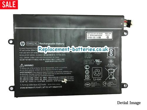 image 1 for  Genuine HP SW02XL HSTNN-IB7N Battery For X2 SERIES 33Wh In United Kingdom And Ireland laptop battery