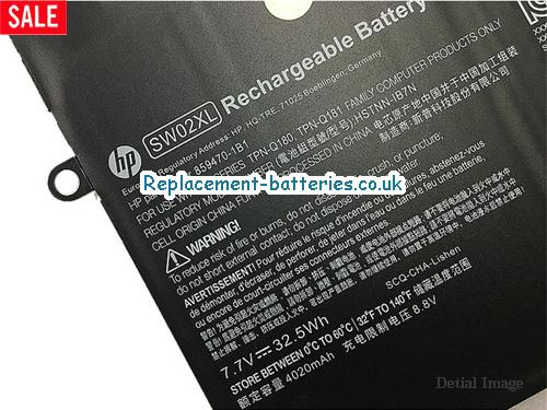 image 2 for  Genuine HP SW02XL HSTNN-IB7N Battery For X2 SERIES 33Wh In United Kingdom And Ireland laptop battery