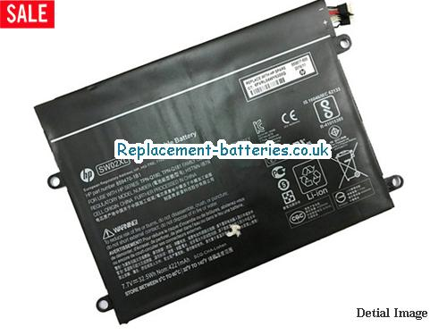 image 5 for  Genuine HP SW02XL HSTNN-IB7N Battery For X2 SERIES 33Wh In United Kingdom And Ireland laptop battery