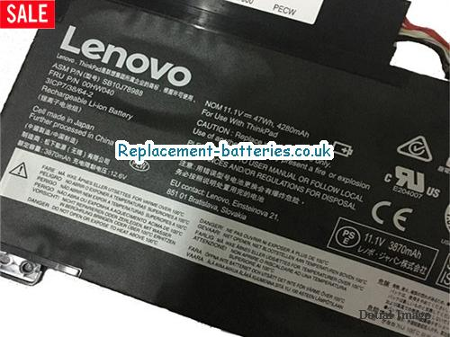 image 2 for  Genuine Lenovo 00HW040 Battery SB10J78988 In United Kingdom And Ireland laptop battery