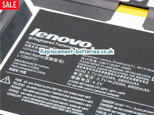 image 2 for  Genuine Lenovo L12M2P31 Battery Pack 6800mah In United Kingdom And Ireland laptop battery