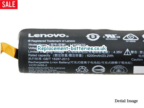 image 2 for  Genuine Lenovo L15D2K32 L15C2K32 Battery For Yt3-X90 YT3-X90F In United Kingdom And Ireland laptop battery