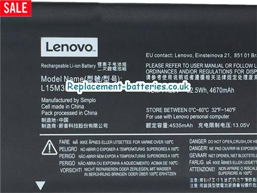 image 2 for  Genuine Lenovo L15M3PB0 Battery For FLEX 41470 Series Laptop In United Kingdom And Ireland laptop battery
