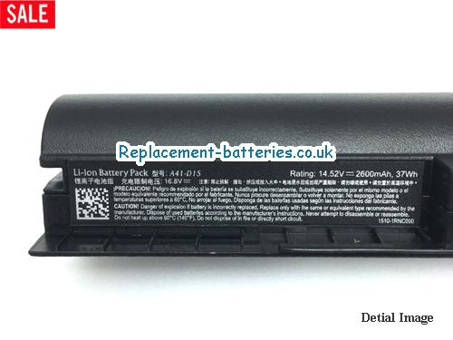 image 2 for  UK 2600mAh, 37Wh  Long Life Laptop Battery For Medion Md 99450, Erazer P6661, E6416, E6412t,  laptop battery