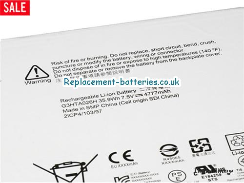 image 2 for  G3HTA027H DYNR01 Battery For Microsoft Surface Pro 4 1724  In United Kingdom And Ireland laptop battery