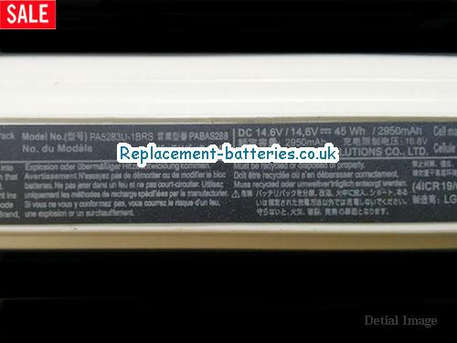 image 2 for  Genuine White Toshiba PA5283U Battery PA5247U-1BRS Li-ion 14.8v 4 Cells Rechargeable In United Kingdom And Ireland laptop battery