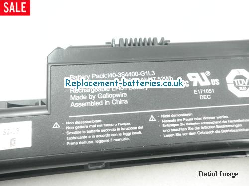 image 5 for  I40-4S220-M1A2 laptop battery