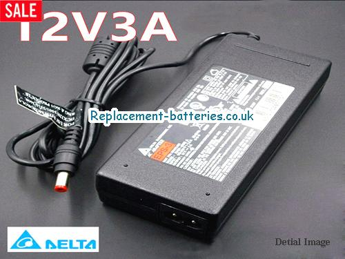 Delta Laptop AC Adapter 12V 3A
