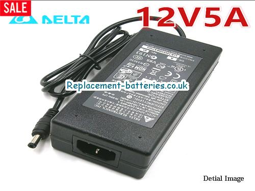 Genuine DELL POWERCONNECT J-SRX210H Laptop AC Adapter 12V 5A 60W
