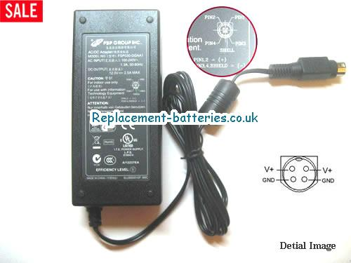 Genuine FSP FSP030-DGAA1 Laptop AC Adapter 12V 2.5A 30W