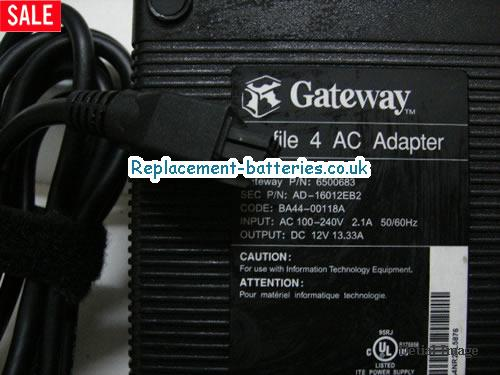 Gateway Laptop AC Adapter 12V 13.33A