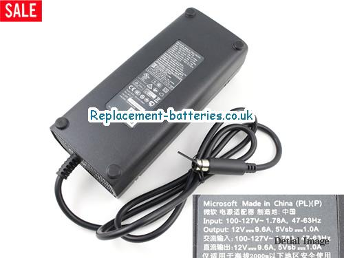 Genuine MICROSOFT X-360E GAME CONSOLE Laptop AC Adapter 12V 9.6A 120W
