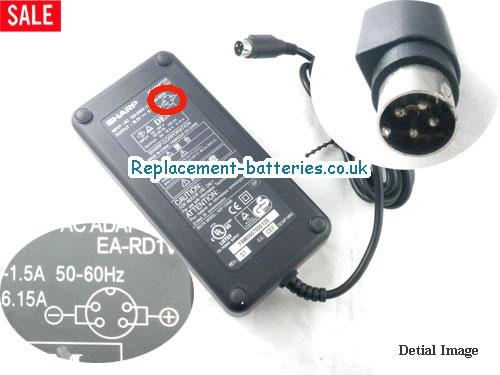 Genuine SHARP EA-PD1V Laptop AC Adapter 19.5V 6.15A 120W