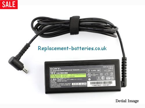 Genuine SONY PCGA-AC16V8 Laptop AC Adapter 16V 4A 64W