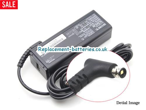 Genuine SONY VGP-AC19V40 Laptop AC Adapter 19.5V 2A 44W