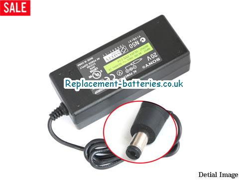 Genuine SONY ACS20RDP3A Laptop AC Adapter 20V 2.5A 45W