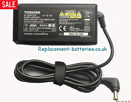 Genuine TOSHIBA PA-1900-03 Laptop AC Adapter 12V 2A 24W