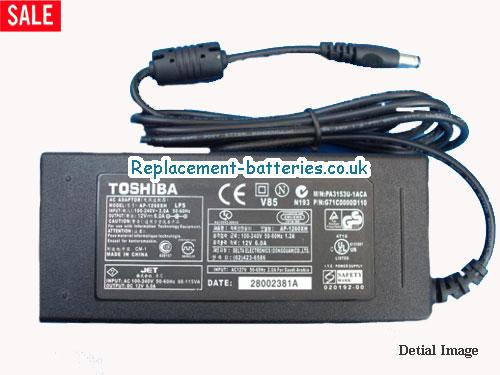 Genuine TOSHIBA L510 MONITOR Laptop AC Adapter 12V 6A 72W